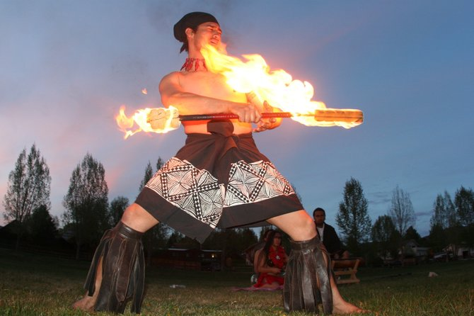 A dancer performs Tuesday at the inaugural Sailor Luau. The event netted more than $10,000 for the Steamboat Springs Booster Club, the Pio Utu Scholarship Foundation and the Parent Information Committee.