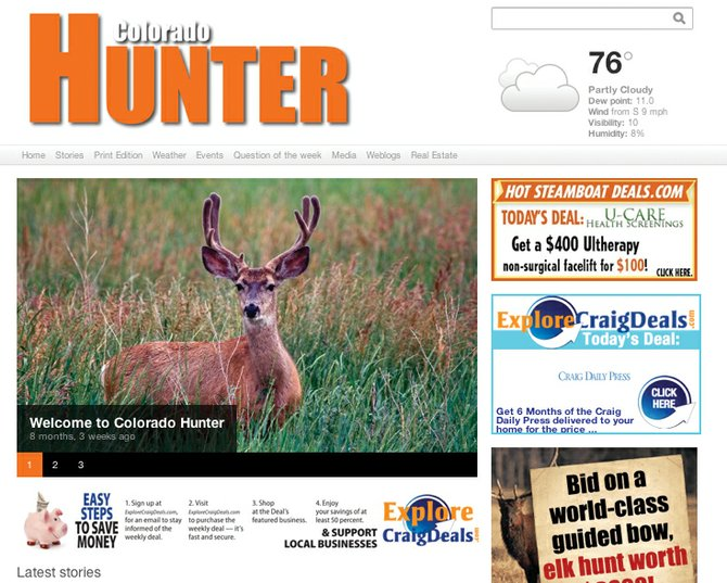 The new site offers hunters from the region and across the country information about hunting in Northwest Colorado.