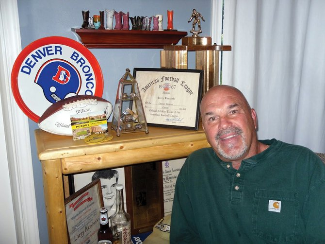 Larry Kaminski, who started B&K Distributing in Steamboat Springs, played for the Denver Broncos from 1966 to 1973. He is one of the original filers in a lawsuit against the NFL, claiming the league knew about and covered up the effects of head injuries, and has joined a workers' compensation suit against the Broncos.