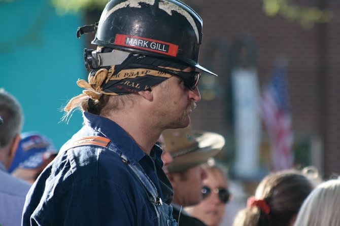 Mark Gill, of Twentymile Mine, was one of about 250 area coal miners who attended Tuesday's campaign rally for Republican presidential candidate Mitt Romney. The mine's attendance at the event was to raise public awareness about energy and issues surrounding the industry.