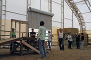 Nine Yampa Valley residents toured the horse arena belonging to Dr. Scott and Connie Sue Ellis on Sunday night east of downtown Craig. The group is exploring ways to develop a therapeutic horse riding center in town.