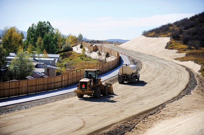 Residents of the West Acres Mobile Home Park in Steamboat Springs have been engaged in a lenghty legal battle with the city about the construction of the Gloria Gossard Parkway, pictured here during its construction in fall 2010.