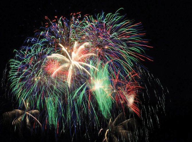 Fireworks explode over Howelsen Hill on July 4, 2011. Steamboat Springs Fire Chief Mel Stewart said the annual display could be canceled this year because of dry conditions.