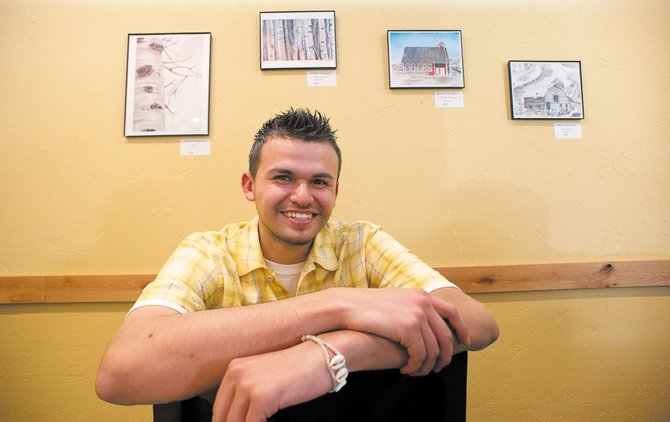 Artist Abraham Rodriguez will have his work shown at Ciao Gelato in Steamboat Springs through June 24. Rodriguez graduated from Steamboat Springs High School in 2011.