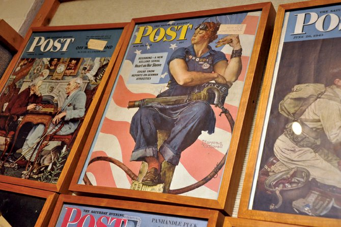 Rosie the Riveter takes center stage on a cover Norman Rockwell painted for a 1943 edition of The Saturday Evening Post, shown here at the Museum of Northwest Colorado. Tom Daly, curator of education at the Norman Rockwell Museum, will speak about the illustrator's life and work at free presentations scheduled for 10 a.m. and 2 p.m. Saturday at The Center of Craig, 601 Yampa Ave.