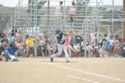 A member of the Columbine Comets swings and fouls off a pitch during a game in the Steambout Mountain Magic Triple Crown Baseball tournament Friday at Loudy-Simpson Park. The tournament is open to Division 2 teams and had a record 87 teams attend this year. Hayden, Steamboat Springs and Oak Creek also hosted games.