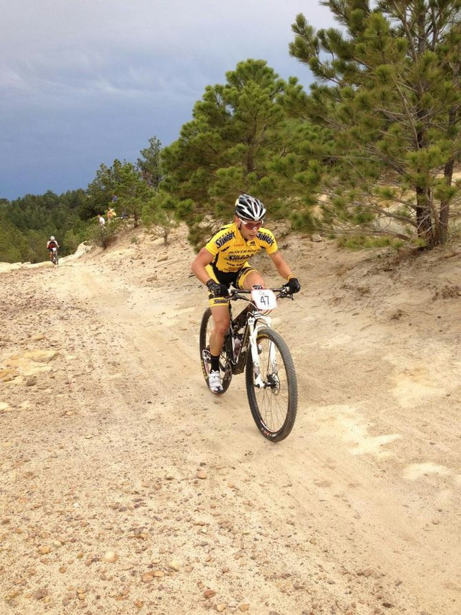 Steamboat Springs rider Trevor Walz had a highlight 29th-place finish Saturday in the men's pro division at the Ute Valley Pro XCT mountain bike race in Colorado Springs.