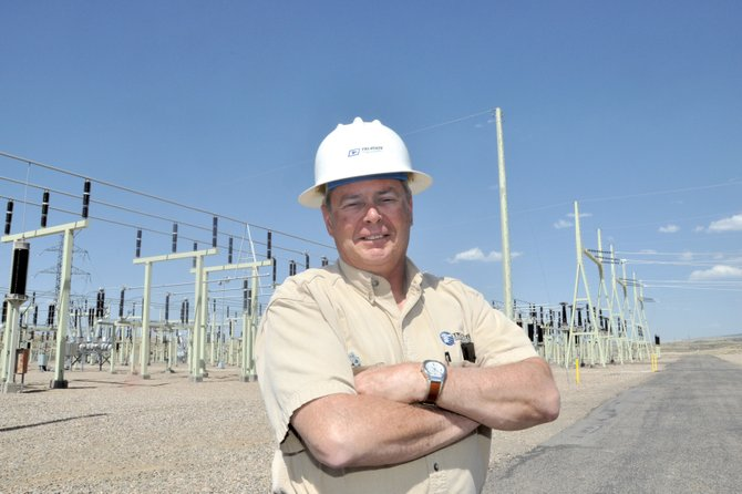 Chuck Grobe, substation supervisor for Tri-State Generation & Transmission, stands near the substation Tuesday afternoon. Grobe is challenging incumbent and fellow Republican Audrey Danner for the Moffat County Commission District 2 seat.