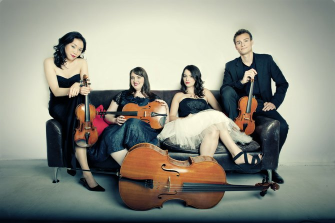 The University of Colorado's Tesla Quartet, the new quartet-in-residence at Strings Music Festival, will kick off Music on the Green's free lunchtime concert series Thursday.