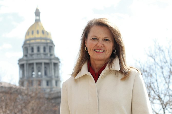 Colorado State Sen. Jean White, R-Hayden, shown here in front of the state capitol building in 2011, is running for re-election after serving her first term in the state senate. The incumbent is vying for the Senate District 8 seat with fellow Republican Randy Baumgardner, of Hot Sulphur Springs, who represents House District 57.