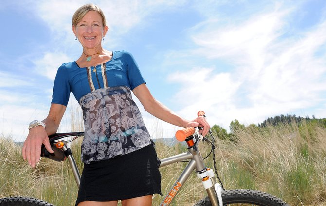 Steamboat Springs' Karen Tremaine was one of the United States' best cyclists for more than a decade. She took up singlespeed racing after she retired from the World Cup circuit and now, despite enjoying another big season in that realm, she has her eye on the next phase of cycling. She and husband Clint Ball are tackling the cycling clothing industry. They're producing clothing for women riders, including dresses and tops, like the one Tremaine wears.