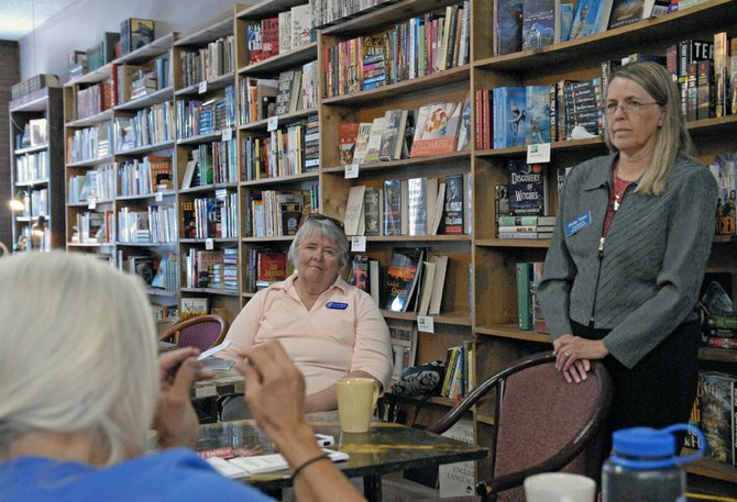 Emily Tracy, a Democratic candidate for Colorado State Senate District 8, met with voters last week at Downtown Books in Craig. Tracy, of Breckenridge, is married to a Republican. She said they cross party lines every day at home, an example of bipartisan cooperation.