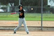 Colby Beckett, 12, swings at a pitch during Moffat County Cutthroats practice Wednesday at Woodbury Park. The Moffat County Cutthroats played in the 12-year-old division last weekend at a Triple Crown baseball Steamboat Mountain Magic tournament.
