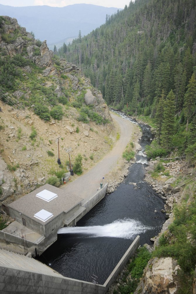 Water is released into the Yampa River on Friday from Stagecoach Reservoir.