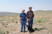 Ervin and Arloa Gerber stand in a pasture at their cattle ranch west of Craig. Their land is parched from a lack of winter and spring moisture, and local hay is hard to come by in this summers unseasonably hot, dry weather. If the drought persists, I guess you just live with it, said Ervin, 73. I dont know what else youre going to do.
