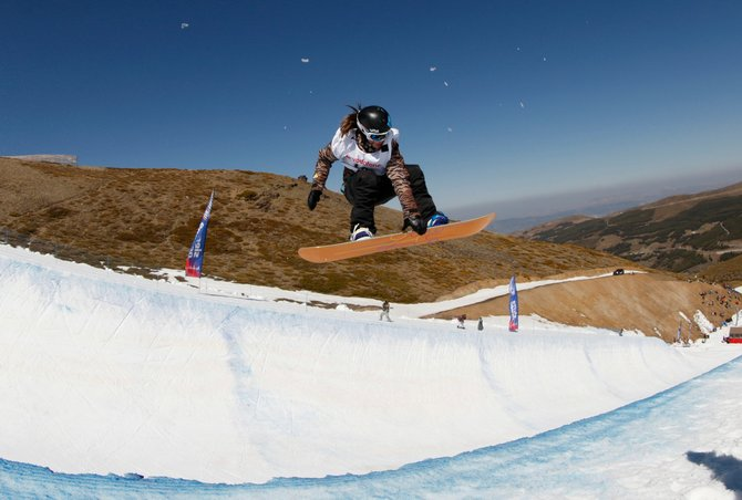 "Steamboat snowboarder Arielle Gold flies out of the halfpipe in March at the FIS Junior World Championships in Sierra Nevada, Spain. Gold was one of eight teenagers named a ""Future Game Changer"" by Sports Illustrated. Gold is featured in the July 9 issue of the magazine."