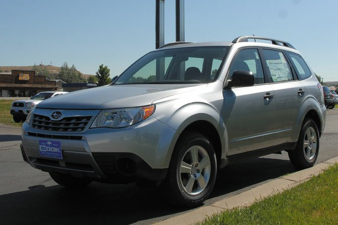 This 2012 Subaru Forester is one of many cars Cook Chevrolet and Subaru will bring to the 2012 Motor Expo in the Centennial Mall parking lot this week. The Motor Expo is happening in Craig for the first time and will feature low promotional sales from several area dealers.