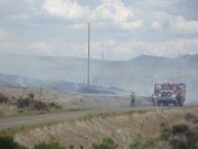 Craig Fire/Rescue firefighters were able to contain a 2.5-acre wildfire Monday on Moffat County Road 210. Battalion chief KC Hume said the fire started as a result of a local resident using a metal grinder outdoors. He reminded residents that despite recent precipitation, fire danger in Moffat County is very high.