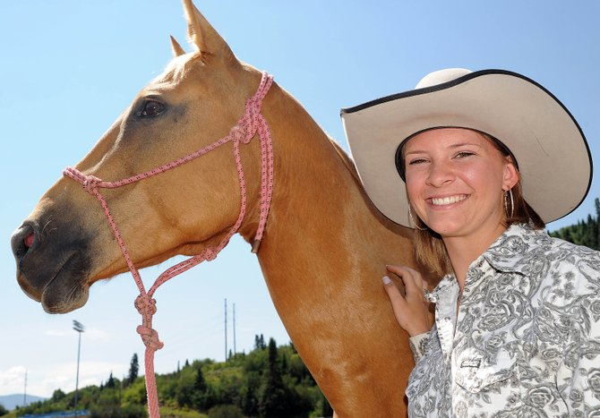 Marley Hammer, 16, and Dixie are headed to Wyoming for the National High School Finals Rodeo. Hammer, a rising junior at Soroco High School, will compete in pole bending.