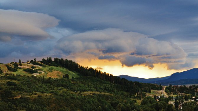 Steamboat Today reader Rebecca Musso submitted this photo of a summer storm over Howelsen Hill on Sunday evening. Three straight days of measurable rainfall have buoyed the Yampa River's flow. Do you have a photo to share? Send it to share@SteamboatToday.com.