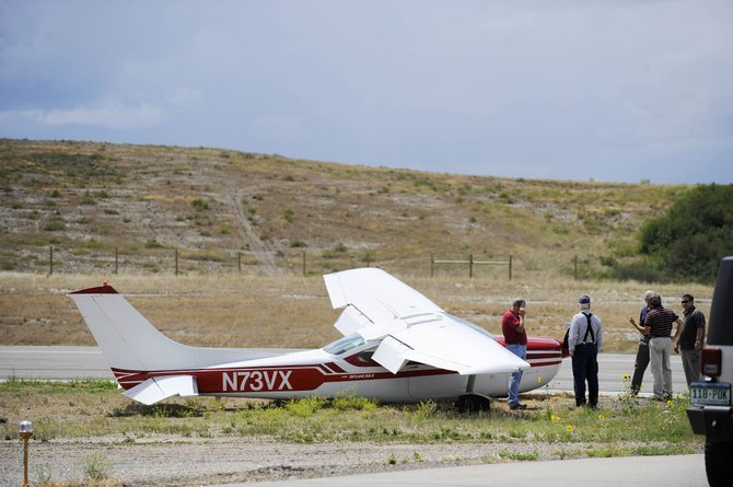 The Cessna 182 Skylane that crashed during landing Tuesday at the Steamboat Springs Airport is owned by the Steamboat Flying Club.