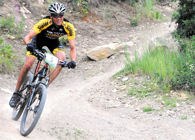 Peter Kalmes rides in 2011s Quarry Mountain Cross-Country Town Challenge race on Emerald Mountain. The event returns to Emerald on Wednesday, with Kalmes going undefeated through this seasons first four races.