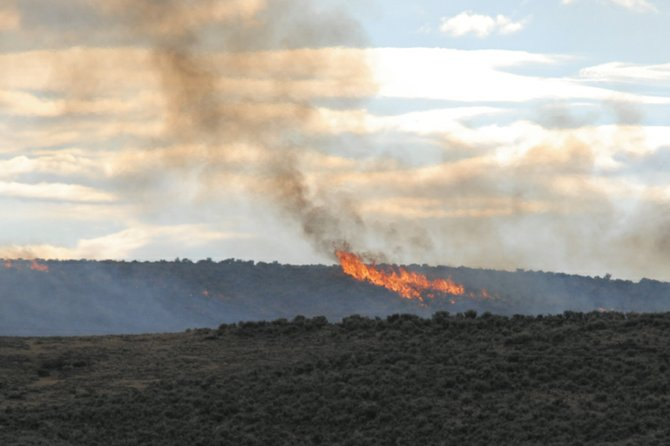 The Agee fire burned 70 acres west of Colorado Highway 13, near Moffat County Roads 89 and 103. It started with a lightning strike Monday and was deemed under control at 8:47 p.m. Monday.
