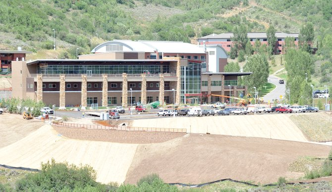Colorado Mountain College staff will move into the Alpine Campus' new student and academic center starting Wednesday. Campus CEO Peter Perhac said the new building is complete, and crews now are putting the finishing touches on it.