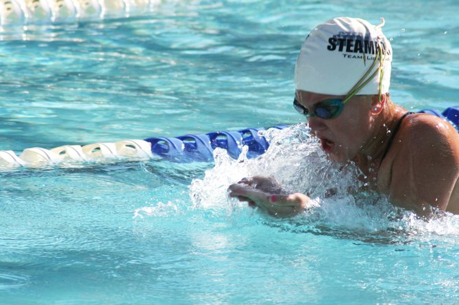 Ty Kortas swims the breaststroke in last weekend's Colorado Western Slope Championships. The Steamboat Springs Swim Team continued its impressive season at the meet held in Grand Junction.