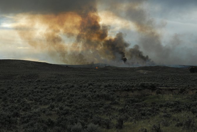 The Agee fire burned 70 acres west of Colorado Highway 13, near Moffat County Roads 89 and 103. It started with a lightning strike Monday and was deemed under control at 8:47 p.m.