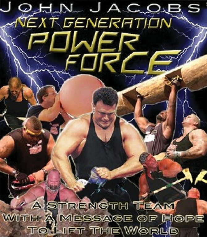 John Jacob's Next Generation Power Force strength team is slated to perform at 9:30 a.m. and 6 p.m. Sunday at New Creation Church, 520 Westridge Rd. Made up of former body builders, NFL players and Strongman contestants, the strength team uses its platform to spread the word of God in churches across the world.