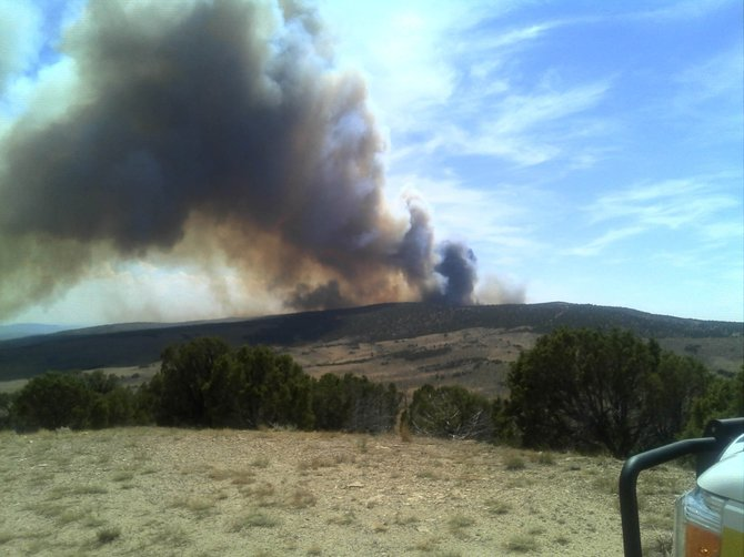 The Wolf Fire, about five miles south of Elk Springs in western Moffat County, had grown to more than 6,100 acres by Sunday evening.