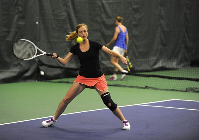 Aspen resident Deidre Hull plays in the NTRP Tennis Championships on Saturday at the Tennis Center at Steamboat Springs.