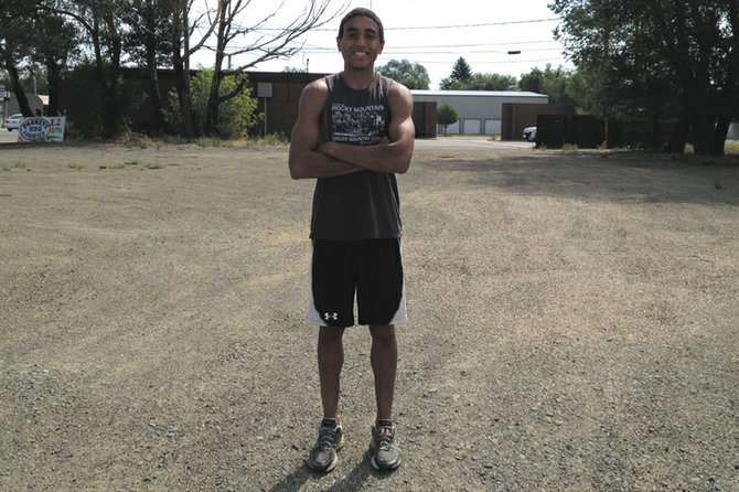 Alfredo Lebron stands near his home in Craig. Lebron has been running around Craig all summer in preparation for his first season of cross-country in college. He is attending Garden City Community College.