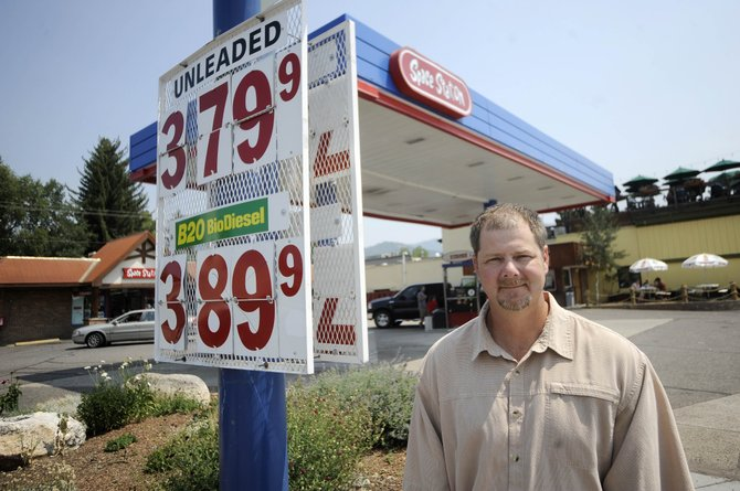 On Friday, Space Station gas station owner Eric Dorris was selling the part-biodiesel fuel B20 for $3.90 a gallon, which Dorris said is similar to what he would be selling regular diesel for.