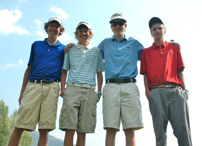 Casey Weston, from left, Andrew Firestone, Erik Sobeck and Brandon Martin have been keys in helping the Steamboat Springs High School golf team win four of five tournaments this season. 