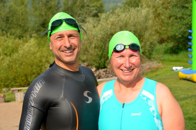 Francis and Ruth Abate have spent the summer training with the Old Town Hot Springs Triathlon Club. A daunting task at the beginning, the two have thrived in the setting. 