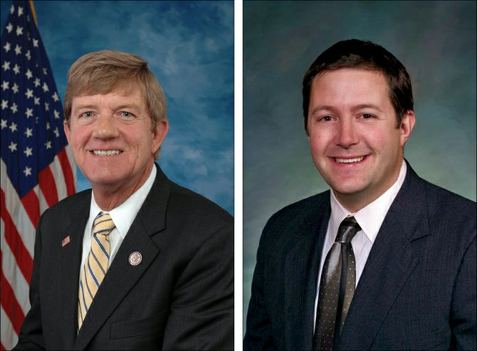 Scott Tipton, left, and Sal Pace, who are both seeking Colorado's Third Congressional District seat in Novembers election, traded barbs last week after their first debate. Their next debate is slated for Sept. 8.