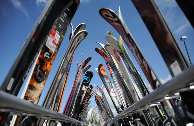 Area ski shops already are getting shipments for the new season&#39;s ski and snowboard gear, but they still have plenty of last season&#39;s equipment left in stock. For the skier or rider looking to take the step up from renting to owning, that means now can be a great time to buy.