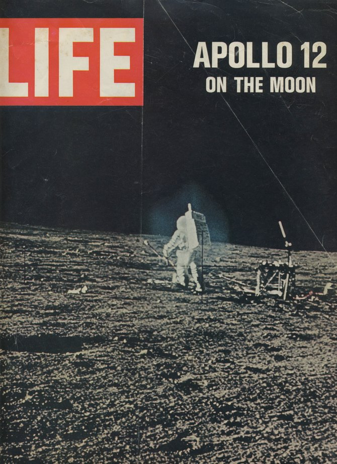 The color photographs that NASA supplied for the Dec. 12, 1969, issue of Life magazine likely were the first images the American public saw of the second moon mission.