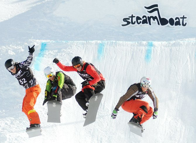 Snowboard cross athletes fly away from the starting line of the 2011 Hole Shot tour event in Steamboat Springs. Some local athletes will miss out on the 2013 Winter X Games as officials announced that they will be dropping the X Games' snowboard cross and ski cross events.