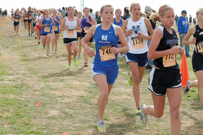 Moffat County High School senior Eryn Leonard, seen here during last year's state cross-country meet, is looking to return to the state competition this year and leave with a better result. Both the girls and boys cross-country teams open the 2012 season Friday.