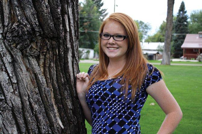 Bretta Buchanan, a senior at Moffat County High School, poses in Veterans Memorial Park in Craig.