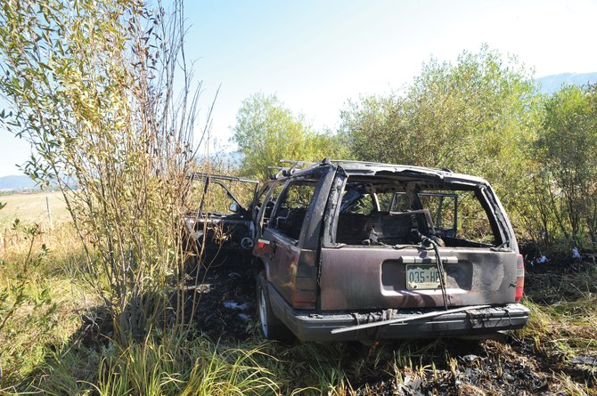 A man was rescued from his car that went off the road and caught fire near U.S. Highway 40 and Colorado Highway 131. A passing driver stopped and pulled the man from the burning car.