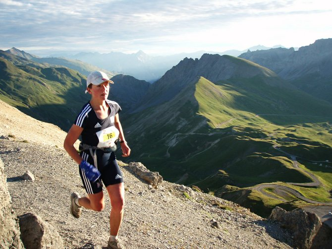 Lizzy Hawker runs Le Trail des Cerces ultramarathon in 2009 in France. Hawker is a renowned ultramarathon runner who will be in Steamboat Springs to participate in the 100-mile Run Rabbit Run race.