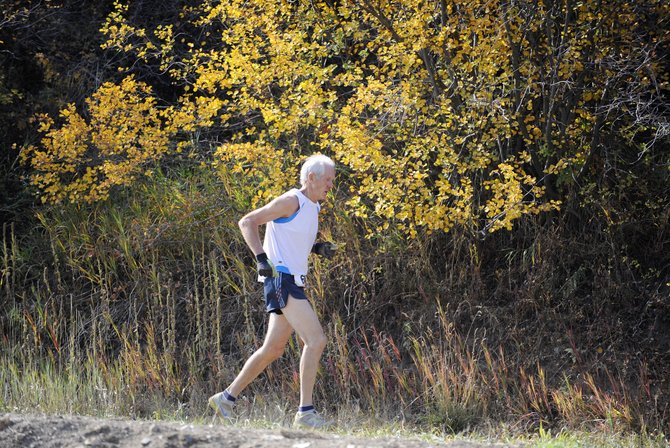 Tom Nelson competes in the Emerald Mountain Trail Run on Saturday at Howelsen Hill. After finishing in 1 hour, 14 minutes and 23 seconds, Nelson placed second in the season points standings for men and first for the season in his age group.
