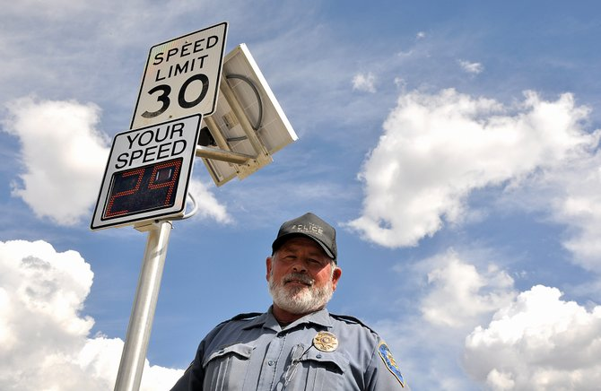 Hayden Police Chief Gordon Booco said Monday the new speed signs installed at both ends of Hayden on U.S. 40 already are helping to slow people down.