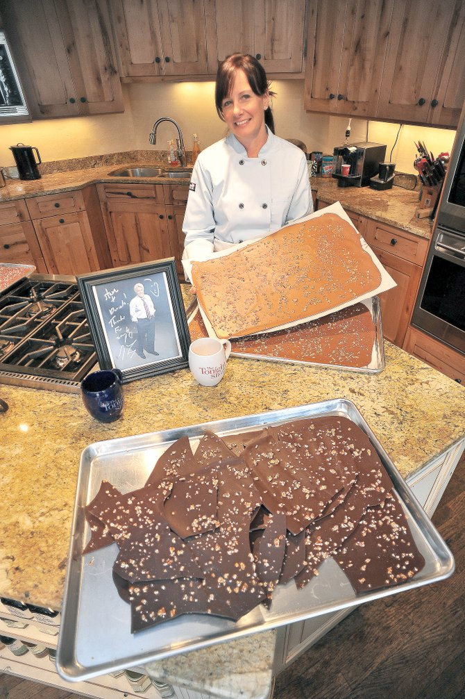 Chocolatier Daniela Kennedy&#39;s treats have become a standard for guests of &quot;The Tonight Show with Jay Leno.&quot; Kennedy, who owns The Homesteader in downtown Steamboat Springs, has been creating candies for her downtown store. A staffer for Leno&#39;s show discovered the treats last winter and has been featuring the candy in the green room, where many nationally and internationally known guests wait for their turns on the popular late-night talk show. 