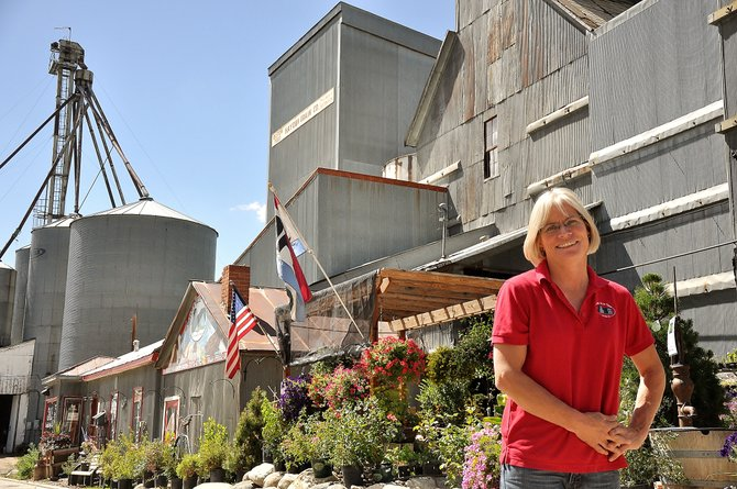 Hayden Granary owner Tammie Delaney hopes to turn the iconic Hayden building into a hub for arts, culture and economic revival. She is working on a business plan to turn the granary into a community coffee shop, and on Saturday, the buildings warehouse will host a barn dance.
