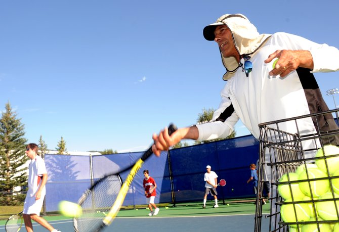 Longtime tennis pros and Steamboat Springs High School tennis coaches John Aragon, above, and Don Toy have been removed from the Tennis Center at Steamboat Springs staff following the finalization of a contract with concessionaire Jim Swiggart. Local tennis fixture Carol Baily, who has been teaching at the Tennis Center since 1975, stepped down in support of Aragon and Toy.